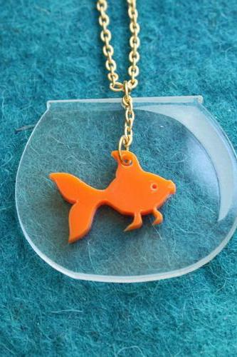 Goldfish Bowl Kawaii Necklace